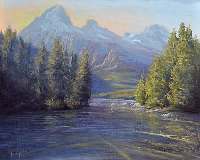 Painting - Evening Calm, Taggart Lake by Gary Huber