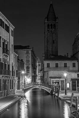 Photograph - Evening Canal In Venice To The Tower  by John McGraw