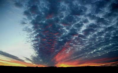 Western Pleasure Photograph - Evening Sky In Kansas by Chris Berry