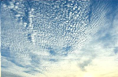 Photograph - Evening Cirrocumulus Clouds by rd Erickson