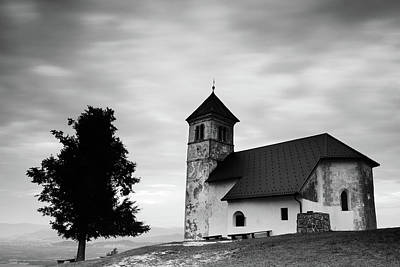 Photograph - Evening Cloud Over Church by Ian Middleton