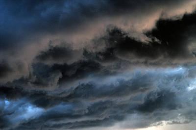 Digital Art - Evening Clouds by Patrick Groleau