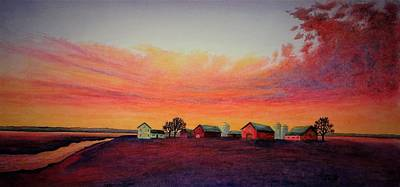 Painting - Evening Colors by Thomas Kuchenbecker
