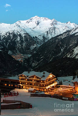 Evening Comes In Courchevel Art Print
