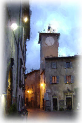 Old Town Digital Art - Evening Comes To Italy by Lynn Andrews