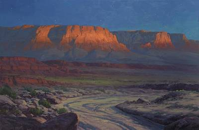Arizona Painting - Evening Comes To Marble Canyon by Cody DeLong