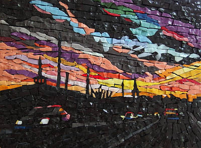 Mixed Media - Evening Commute by Julie Mazzoni