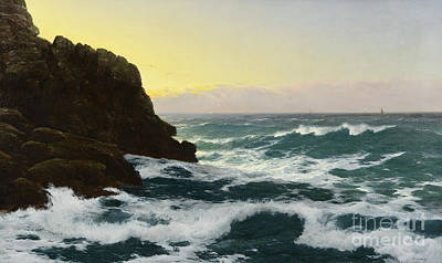 Graphics Painting - Evening Cornish Coast by Celestial Images