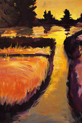 Painting - Evening Creek by Nancy Merkle