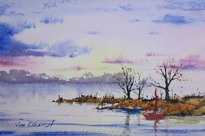 Oberst Painting - Evening Cruise by Jim Oberst