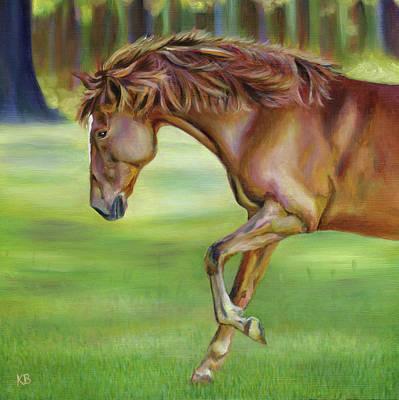 Peruvian Horse Painting - Evening Dance by Karen Broemmelsick