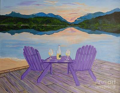 Reflections On Bottle Painting - Evening Delight by Alicia Fowler