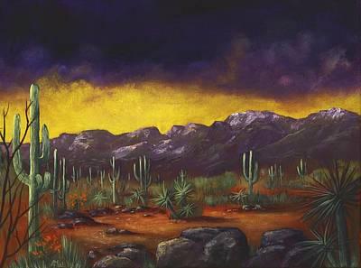 Evening Desert Art Print
