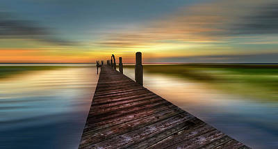 Photograph - Evening Dock Dreamscape by Debra and Dave Vanderlaan