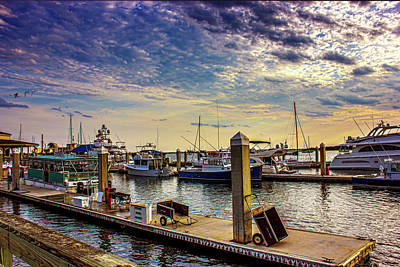 Photograph - Evening Dockside by Barry Jones
