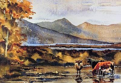 Painting - Evening Drinks Nr Maam Cross Connemara by Val Byrne