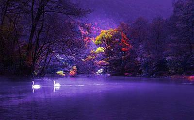 Digital Art - Evening Falling - Bosna River by Rod Jellison