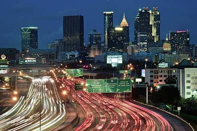 Photograph - Evening Falls In Atlanta by Frozen in Time Fine Art Photography