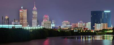 The 500 Photograph - Evening Falls On Indianapolis by Frozen in Time Fine Art Photography