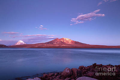 Isi Photograph - Evening Falls Over Lake Chungara Chile by James Brunker