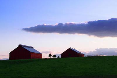 Daviess County Digital Art - Evening Farm by Shellie Midgette
