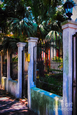Photograph - Evening Fence And Gate - Nola by Kathleen K Parker