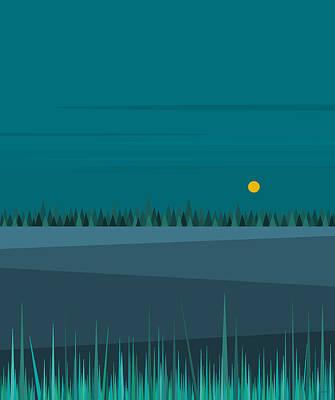 Digital Art - Evening Fields by Val Arie