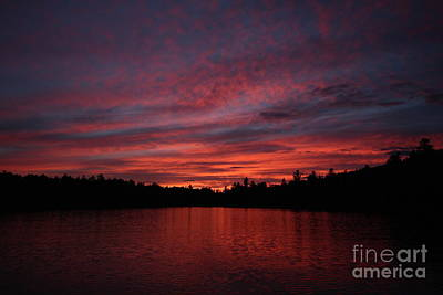 Photograph - Evening Fire On Lake Umbagog  by Neal Eslinger