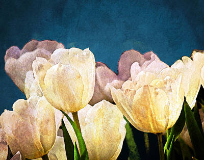 Tulips Watercolor Wall Art - Photograph - Evening Garden by Moon Stumpp