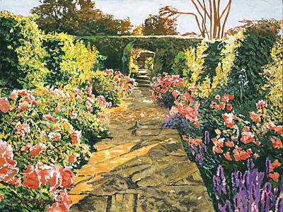 Evening Garden Sussex England Original