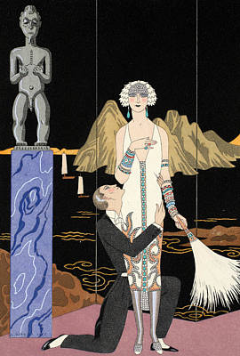 Evening Art Print by Georges Barbier
