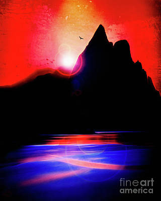 Digital Art - Evening Glory by Edmund Nagele