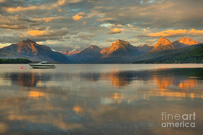 Photograph - Evening Glow At Lake Mcdonald by Adam Jewell