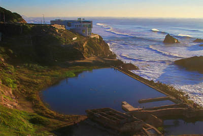 Photograph - Evening Glow At Sutro Baths by Bonnie Follett