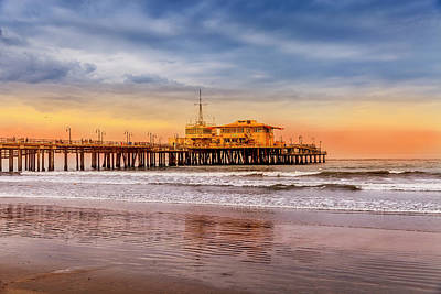 Evening Glow At The Pier Art Print