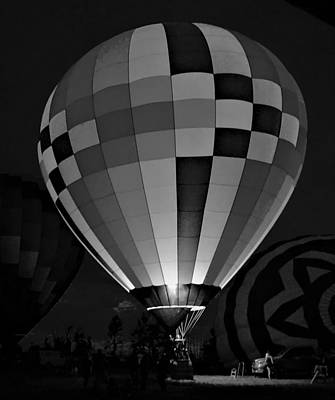 Photograph - Evening Glow Bw by Charles HALL