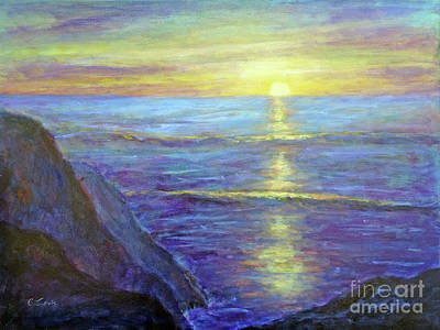 Painting - Evening Glow by Carolyn Jarvis