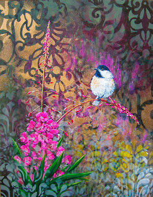 Fireweed Painting - Evening Glow by Dee Carpenter