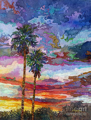 Note Card Painting - Evening Glow by Hailey E Herrera