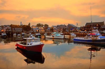 Rockport Photograph - Evening Glow by Joann Vitali