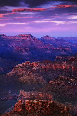 Grand Canyon Photograph - Evening Grand Canyon Drama by Andrew Soundarajan