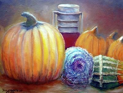 Art Print featuring the painting Evening Harvest by Bernadette Krupa