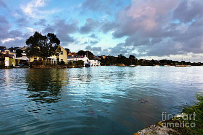 Photograph - Evening High Tide In Mylor Bridge by Terri Waters