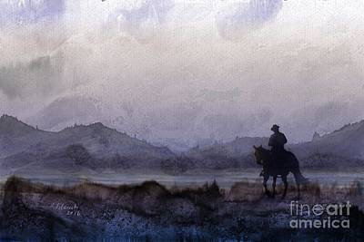 Painting - Evening Horseback Ride by Judy Filarecki