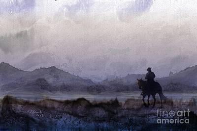 Painting - Evening Horseback Ride by Judy Filarecki