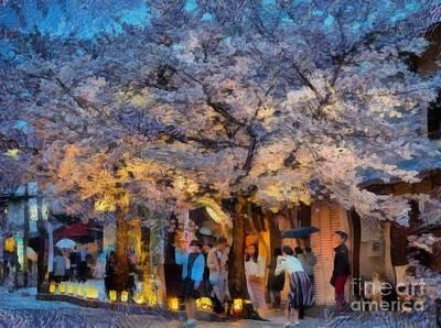 Digital Art - Evening In Arashiyama by Eva Lechner