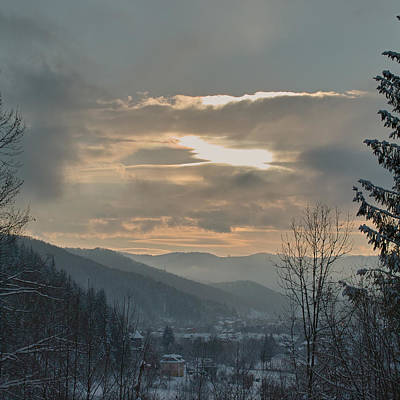 Photograph - Evening In Carpathians. Sheshory, 2010. by Andriy Maykovskyi