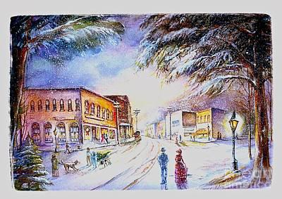 Evening In Dunnville Art Print