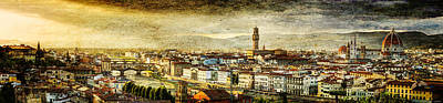 Photograph - Evening In Florence - Vintage Version by Weston Westmoreland