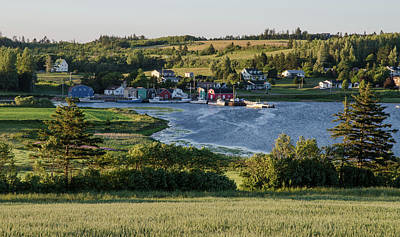 Art Print featuring the photograph Evening In French River, Pei. by Rob Huntley